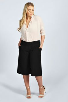 Never say never ..Annie Woven Culottes at boohoo.com