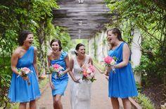 Katie & Dennis, Daniel Stowe Botanical Garden, Indigo Photography, Hall & Webb Event Design, Charlotte Wedding Planner, Bridesmaids, Blue Bridesmaids Dresses