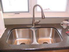 Wilsonart HD counter with undermount sink.