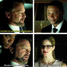 2x21 City Of Blood - Pal, you're gonna wish I had beat you. - Felicity & Diggle, Arrow
