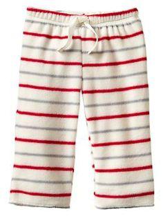 Striped fleece pants, $5.98, GapBaby
