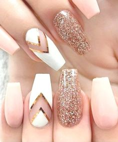 Nail Designs for Spring Winter Summer Fall. 42 Nail Art Ideas All Girls Should T… Nail Designs for Spring Winter Summer Fall. 42 Nail Art Ideas All Girls Should Try Related posts:Bohemian. Summer Holiday Nails, Holiday Nail Art, Summer Nails, Rose Gold Nails, White Nails, Pink Nails, Fancy Nails, Fall Acrylic Nails, Glitter Nail Art