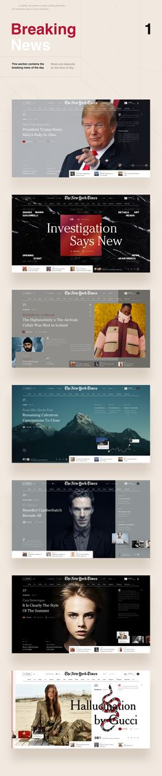 NYT Redesign Concept on Behance Site Design, Layout Design, Ux Design, Portal, New York Times Magazine, Behance, Event Page, Adobe Xd, Best Web