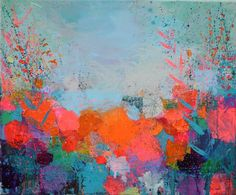 "Saatchi Art Artist Sandy Dooley; Painting, ""Orange Pink And Blue Winter"" #art"