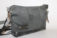 ipad mini bag grey fabric bag leather bottom  mini cross body bag  everyday bag women bag