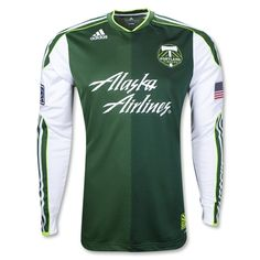 b5186190c7a Portland Timbers 2012 Long Sleeve Home Authentic Soccer Jersey Portland  Timbers