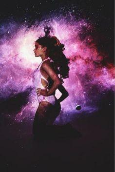 ariana grande galaxy | ... love, pretty, tumblr, ari, stars, ariana grande, ariana, pink, galaxy