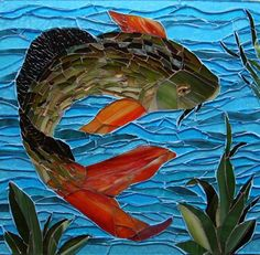 Stained glass poisson on pinterest stained glass for Coy poisson