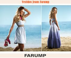 Você já conhece os vestidos jeans da Farump? Essa peça a partir do material denim será outro hit do verão 2013. Aposte nos longos e curtos!