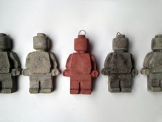 Two 2 Large Lego Minifigure Concrete 6 colors to by Concreative