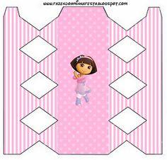 Dora Bailarina - Kit Completo com molduras para convites, rótulos para guloseimas, lembrancinhas e imagens!