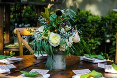 bit.ly/1mseoAj Vineyard, wedding reception, jigsaw table, wedding idea, woodwork, rustic, centerpiece, #weddings #receptions #tabletop Table Wedding, Wedding Reception, Jigsaw Table, Rustic Backyard, Centerpieces, Table Decorations, Vineyard Wedding, Social Events, Receptions