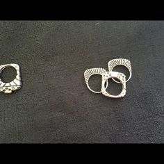 3 set of ring Diane Malouf  3 ring set gold and silver   Size 7 Diane Malouf Jewelry Rings