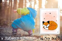 jesień, autumn, lisek, fox, fox for kids, plakaty dla dzieci, skandynawski design, grafiki pastelowe