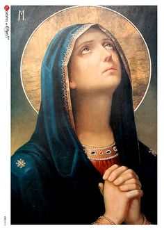 Catholic Meditation and Contemplative Prayer: What's the Difference? Blessed Mother Mary, Blessed Virgin Mary, Religious Icons, Religious Art, Madonna, Contemplative Prayer, Prayers To Mary, Mama Mary, Our Lady Of Sorrows