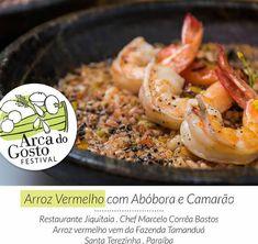 Festival Arca do Gosto_prato do chef Marcelo Corrêa Bastos do restaurante Jiquitaia - Arroz vermelho com abóbora e camarão