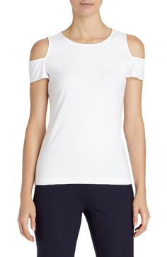Lafayette 148 New York Lafayette 148 New York Cold Shoulder Top available at #Nordstrom