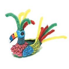 United Art and Education Art Project:  Sculpt a colorful, clay toucan and then add chenille stems and paint!