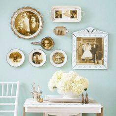 Home DIY :::: Turn family photos into lovely wall decor ::::: ❥
