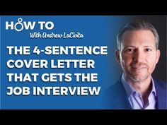 Join career expert and award-winning author Andrew LaCivita as he teaches you exactly how to write the 4 sentence cover letter that gets you the job intervie. Job Interview Questions, Job Interview Tips, Job Interviews, Job Resume, Resume Tips, Find A Job, Get The Job, Job Help, Job Info