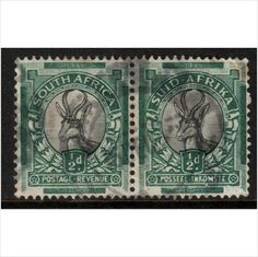 South Africa 1937 Sprinkbok 1/2d Bi-lingual Pair used stamps sur le France de eBid