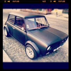 Mini Cooper by Freijeiro Fancy Cars, Cool Cars, Mini Clubman, Mini Coopers, My Dream Car, Dream Cars, Classic Mini, Classic Cars, Matte Black Cars