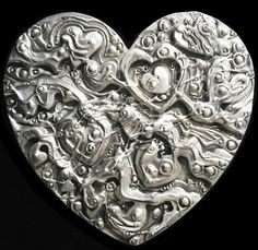 Proud to feature the handcrafted works of more than 500 North American artists. Polymer Clay Projects, American Artists, Valentines, Romantic, Texture, Gallery, Metal, Artwork, Fill
