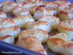 No oil, no fat CRISPY potatoes. I would have never thought it could be true...and then I tried it and it was. Hea-Ven!