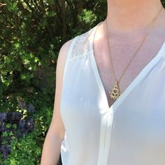 Sacred Lotus, Life Symbol, Gold Pendant Necklace, Stainless Steel Chain, Product Description, Beauty, Collection, Jewelry, Schmuck