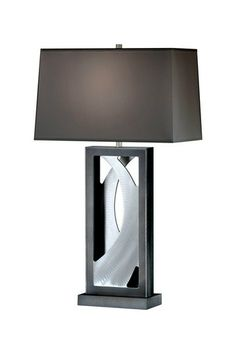 Silver Wave Table Lamp by NOVA Lighting on @HauteLook
