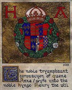 The noble tryumphaunt coronacyon of quene Anne/ wyfe unto the noble kynge Henry viii.