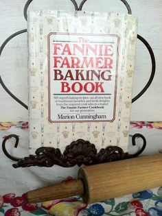 """The Fannie Farmer Baking Book by Marion Cunningham 1984 - Hardback  """"So push up your sleeves, go into your kitchen, put your hands into the dough, and start-mixing, kneading, stirring....""""  Marion Cunningham  $12.00"""