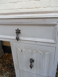Vintage Shabby Chic Hand Painted Linenfold by Brunswickvintage, £215.00