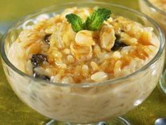 arroz-doce com ameixa