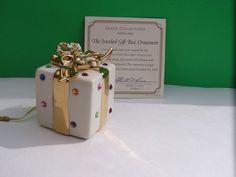 "LENOX 2003 Annual JEWELED Ornament ""THE JEWELED GIFT BOX""."