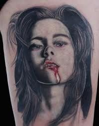 f4e652966 female vampire portrait tattoo female vampire face portrait tattoo .