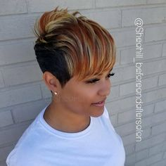 Image may contain: one or more people Short Relaxed Hairstyles, Short Pixie Haircuts, Funky Hairstyles, Boy Haircuts, Formal Hairstyles, Short Sassy Hair, Short Hair Cuts, Funky Hair Colors, Tapered Hair