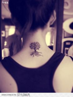 tree tattoos on neck - Google Search