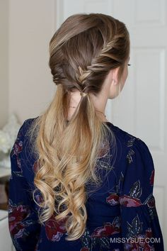Today I'm excited to share the tutorial for this double fishtail french braids. I love this hairstyle for summer and think it's such a great way to dress up your hair for a day out. You can also wear