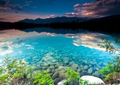 God never ceases to take my breath away...even when it is just pictures(:! Turquoise Lake, Jasper, Canada