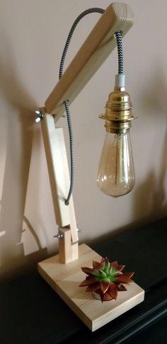 LIGHTING - CRANE WOOD LAMP