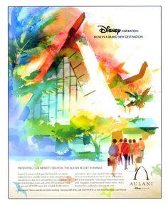 illustrator: Mike Sobey  Disney Aulani Resort   #throwbackthursday    www.edseyart.com/blog