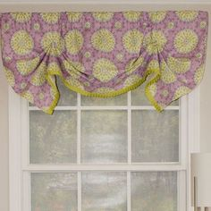 "RLF Home Canne Handkerchief 50"" Curtain Valance Color: Heather"