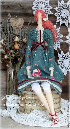 Кукла Тильда Магда. - тёмно-зелёный,кукла ручной работы,кукла Тильда,кукла интерьерная