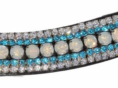 Mega Bling Browband Crystal AB & Turquoise - Capaillíní Equestrian Collection