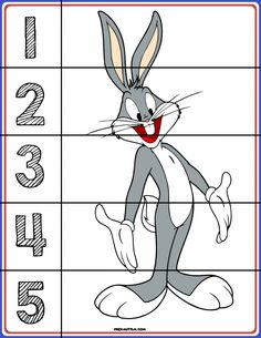 FREE! Printable Looney Tunes Number Puzzles - Autism & Education