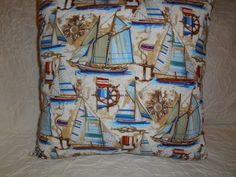 92  1 Novelty Pillow Nautical Theme Pillow  by NoveltyPillows4All, $30.00