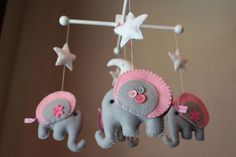 Baby Crib Mobile  Baby Mobile  Decorative Baby by dropsofcolorshop, $90.00   Available in custom colors, perfect for the baby's room