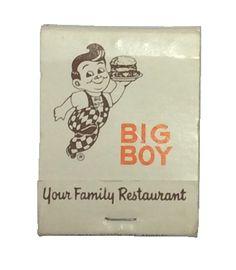 Vintage matchbook from the Big Boy restaurant.