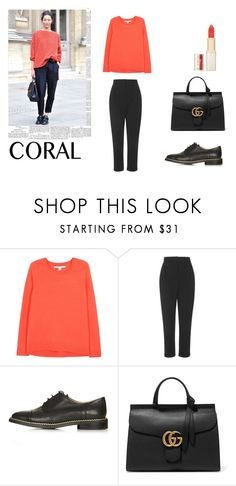"""#75"" by clairecnlp ❤ liked on Polyvore featuring beauty, Diane Von Furstenberg, Topshop, Gucci, L'Oréal Paris and coolcorals"